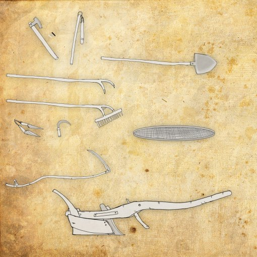 Medieval tools in agriculture