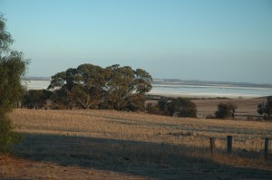 It overlooks Lake Dumbleyung