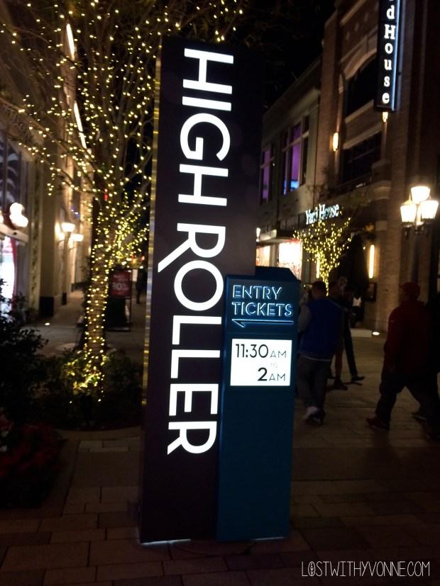 High Roller Sign