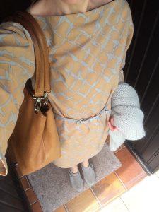 Shirtkleid mit Softclox und Cardigan