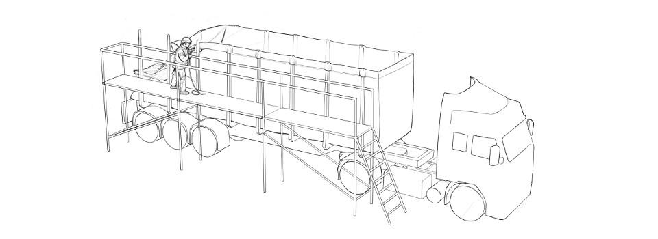 Egger-slider-scaffolding-attaching-method