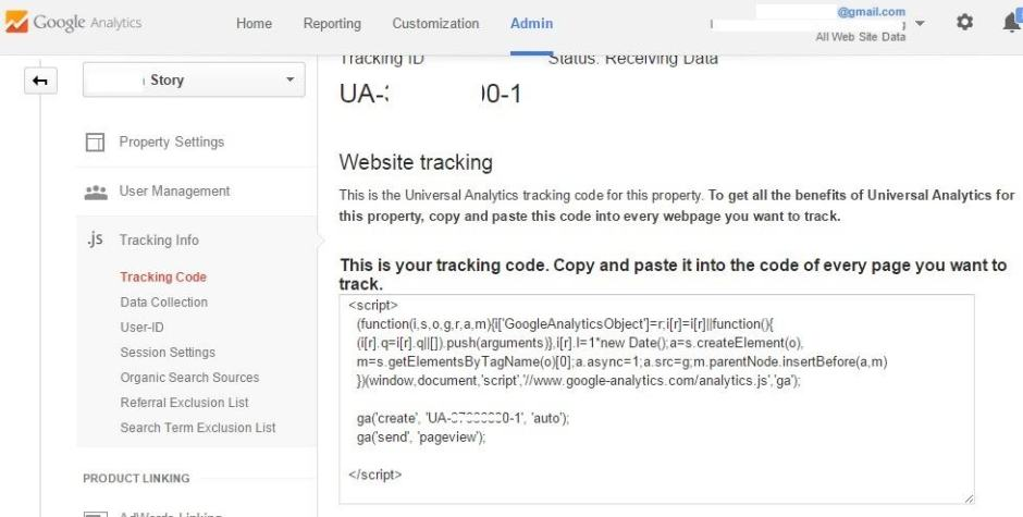 How To Find The Tracking Code From Your Old Analytic Account