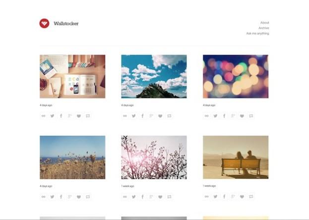 Wallstocker free tumblr theme