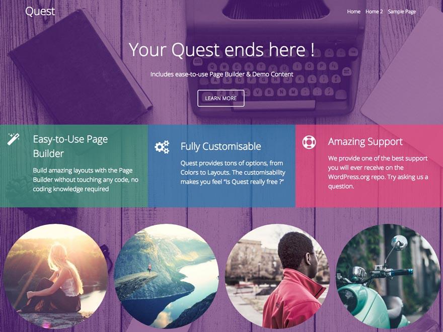 Quest Free wordpress business theme