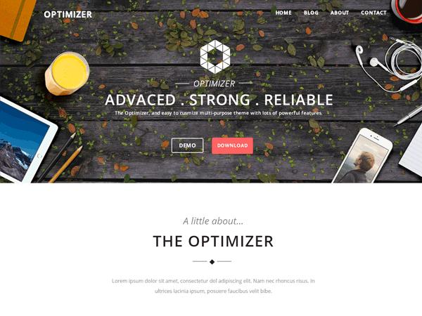 Optimizer Free WordPress Business Services Theme