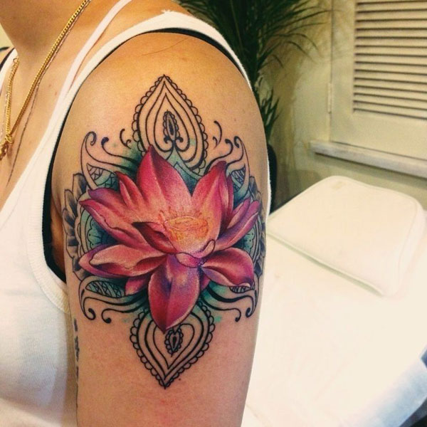 Image Lotus Flower Tattoo Floweryred2com