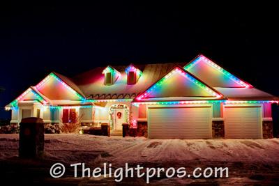 multicolor lights exterior christmas lighting ideas