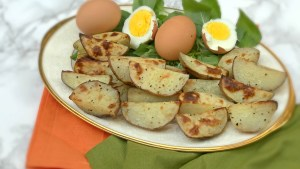secret garden roasted potatoes and eggs