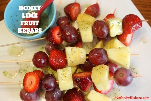 Honey Lime Fruit Kebabs 6