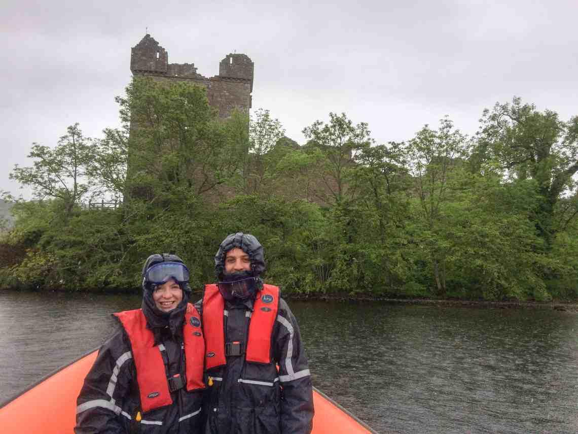 Rib boating on loch ness