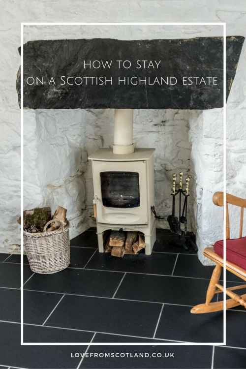 How to stay on a croft on a highland estate in Scotland. A romantic Cottage Scotland