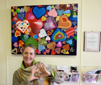 The British Heart Foundation LoveHug at The Heatherwood Hospital Cardiology Unit