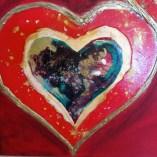 individual heart art detail