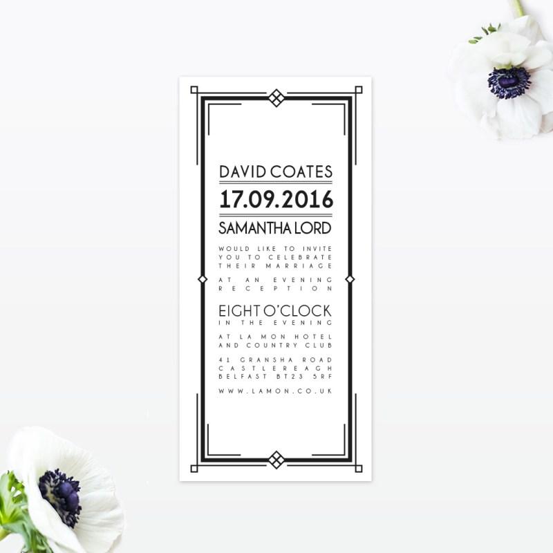Affordable Wedding Art Deco Art Deco Wedding Invitation Love Invited Luxury Wedding Art Deco Wedding Cards Uk Art Deco Wedding Invitation Kits