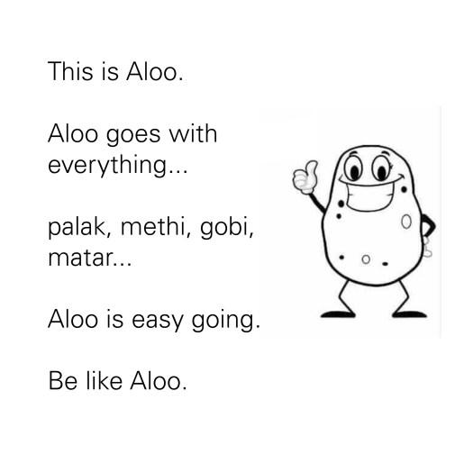 Be like Aloo
