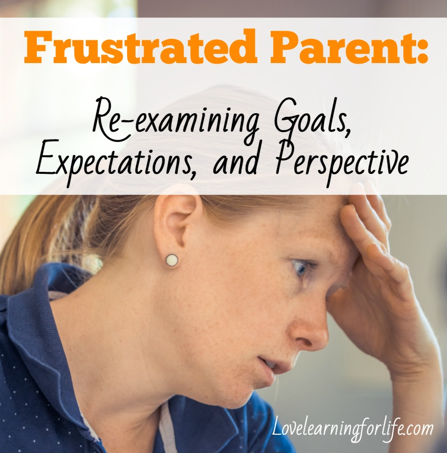 Frustrated Parent: Re-examining Goals, Expectations, and Perspective