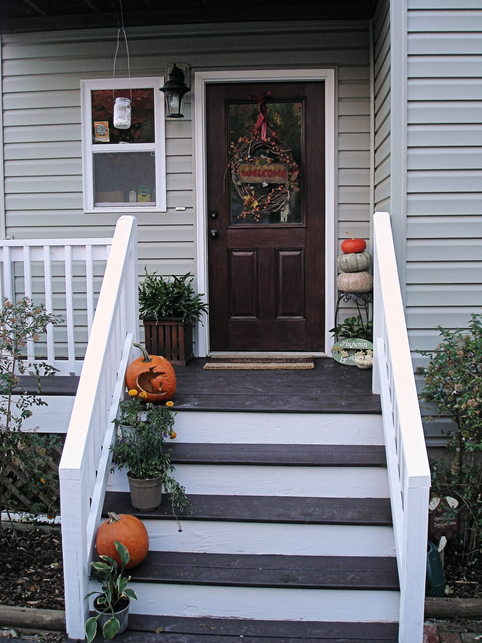 Front porch refresh done for Front entry decks