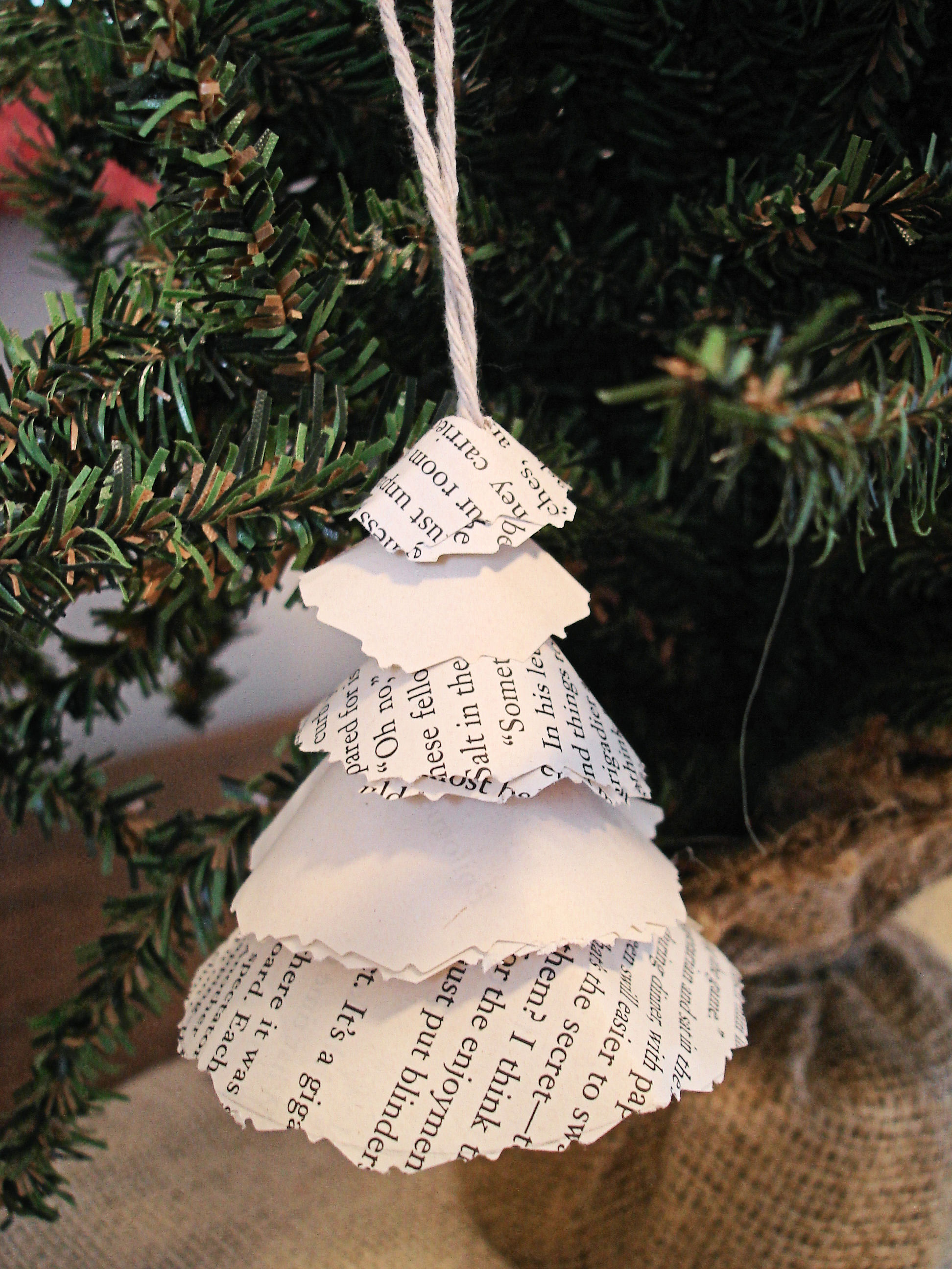 scrappy tree ornament