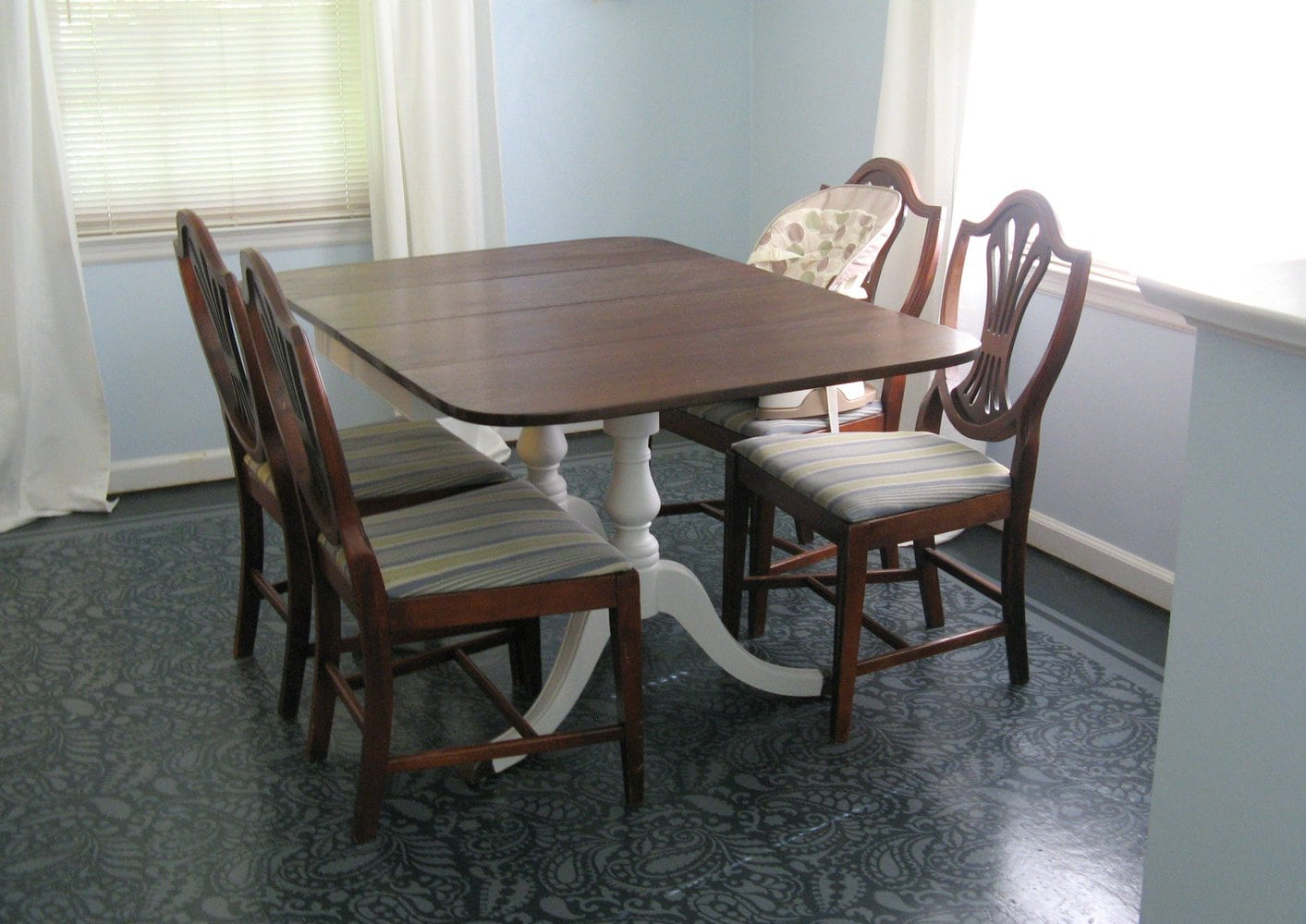 trash to treasure dining room table redo kitchen table