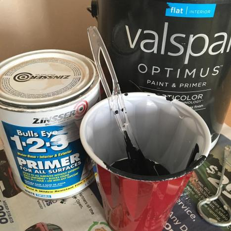 A cup of primer 14 cup of black paint andhellip