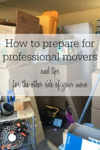 Preparing For Professional Movers