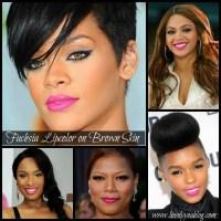 Makeup Monday - Fuchsia Lipcolor on Brown Skin