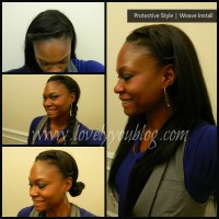 Natural Hair Protective Style #3 - Weave Install + Review