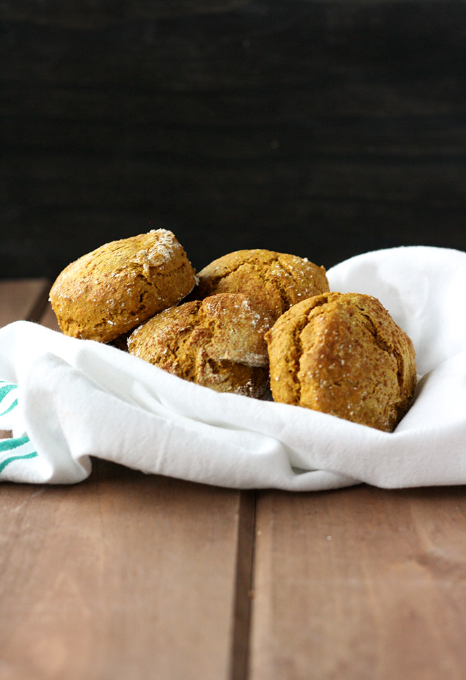 Vegan Kabocha Biscuits - crumbly, moist, biscuit perfection