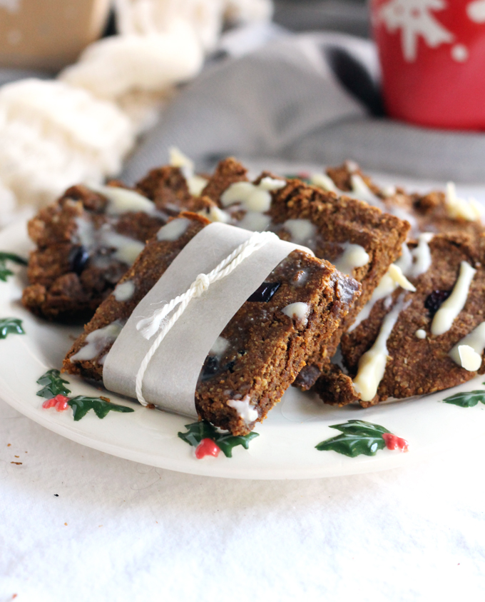 vegan white chocolate cranberry gingerbread cookie bars| love me, feed me