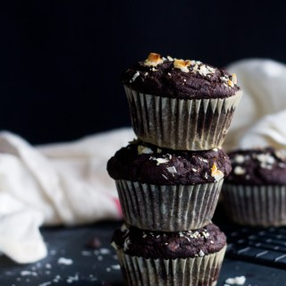 vegan spicy chocolate muffins   love me, feed me