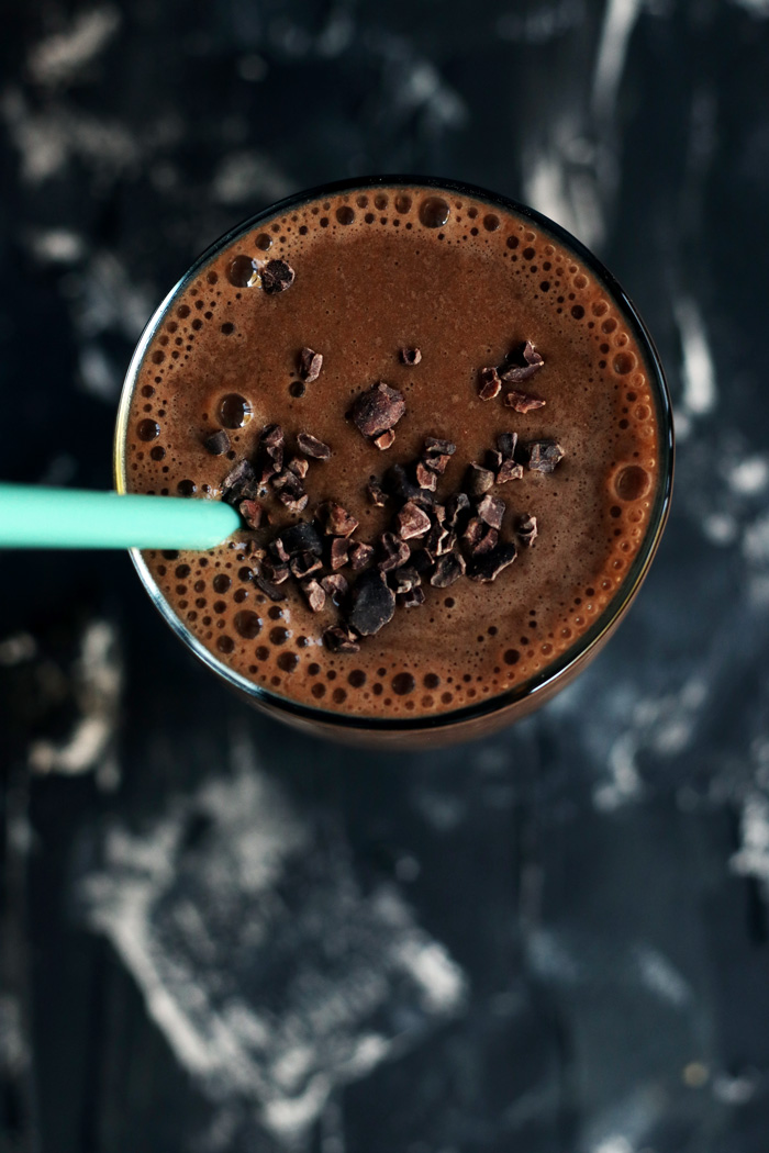 double chocolate hazelnut espresso smoothie from blissful basil (cookbook review) | love me, feed me