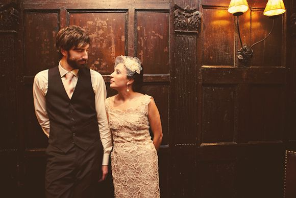 A Short, Shift Style Vintage Wedding Dress…