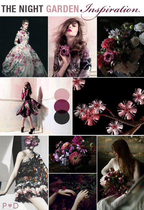 Bridal Inspiration Board #23 ~ Night Garden…