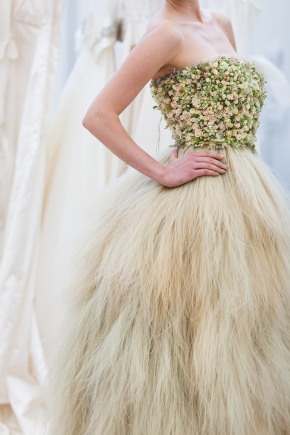 Real Flower Wedding Dress ~ From The Living Embroidery Collection by Zita Elze + Flower Design Academy…