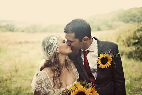 Sunflowers and Glamping ~ A Beautiful Wedding at 'Fforest' in Wales…