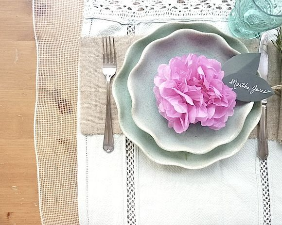 How To Make Your Own Pom Pom Place Settings…