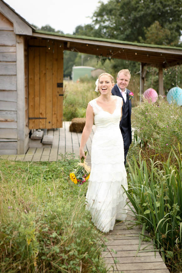 Sunflowers and Cymbeline for a Rustic Barn Wedding…