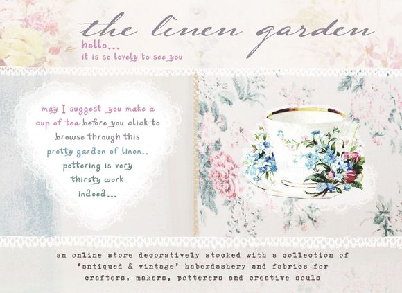 The Linen Garden by Vicky Trainor ~ Vintage Haberdashery & Fabric DIY Made Easy…