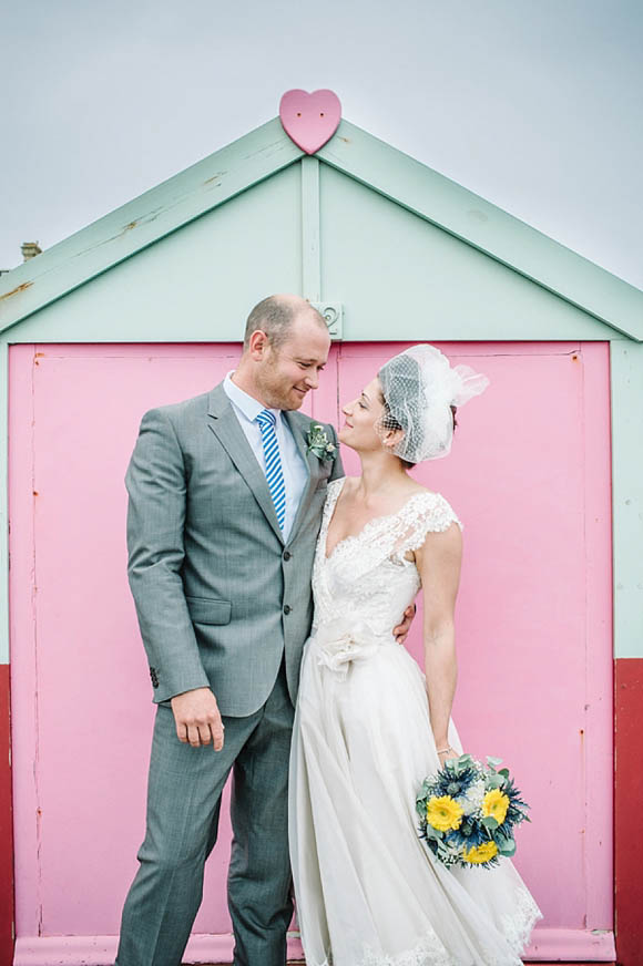 A Pretty Lace 1950's Inspired Dress for a Relaxed Seaside Wedding…