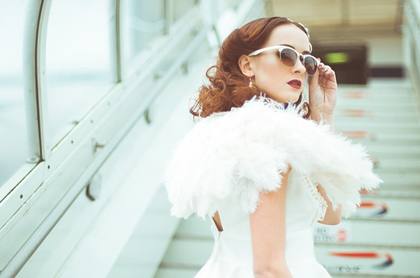 Glamour and Sophistication With A Vintage Aeroplane Inspired Wedding Theme