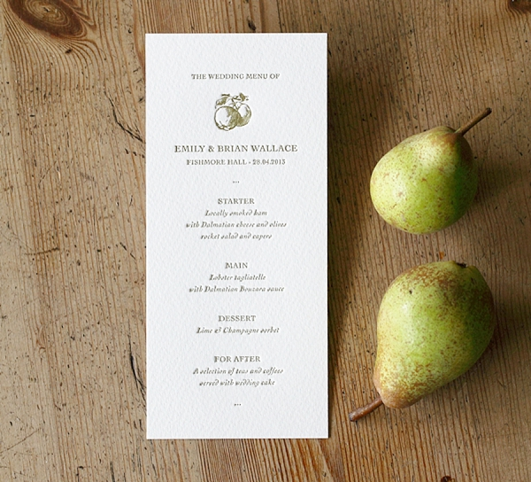 Artcadia Letterpress Wedding Stationery ~ Uncomplicated Letterpress Range + A Generous Reader Offer