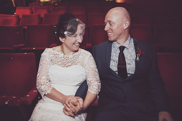 An Intimate, Family, 1960s Inspired Electric Cinema Wedding