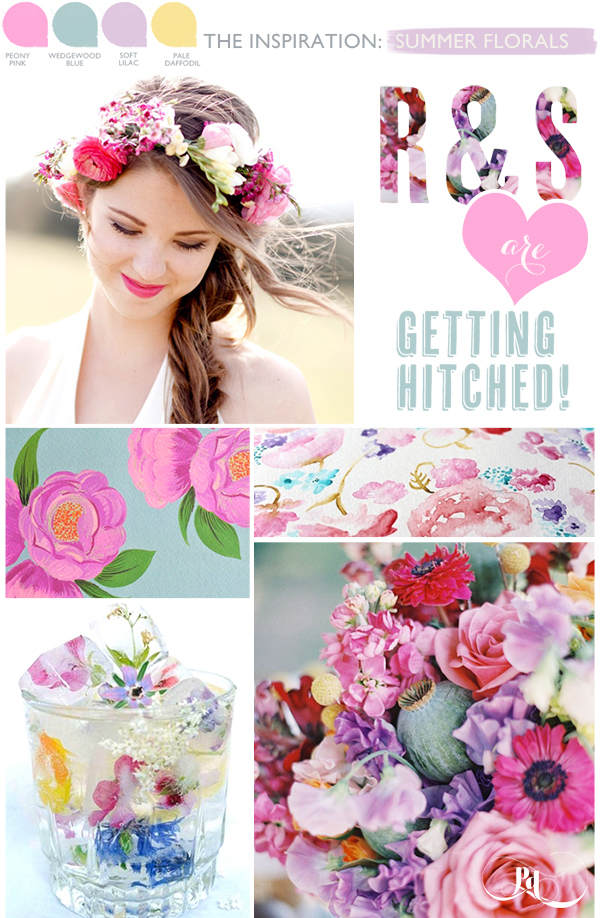 Bridal Inspiration Board #64 ~  Summer Florals