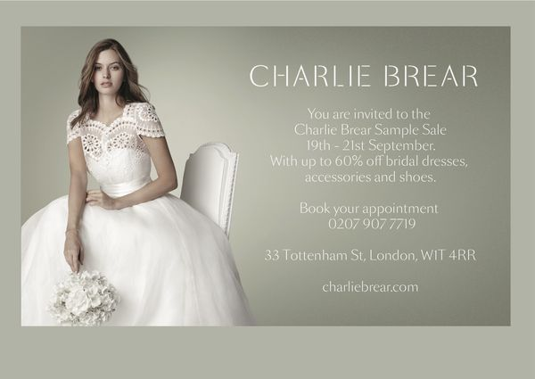 Date For Your Diary ∼ The Charlie Brear Vintage Sample Sale, 19 September 2013, London