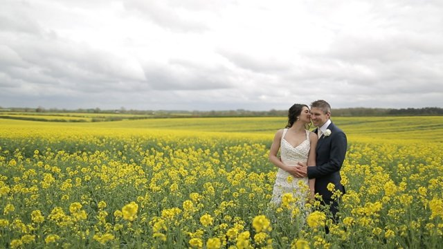 Lunch Time Wedding Film ~ Chris and Linda and Their Springtime Celebration at Cripps Barn