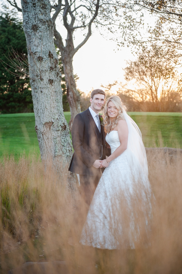 A Brooch Bouquet And Pretty Pink Accents for a Newton Hall Wedding in Northumberland