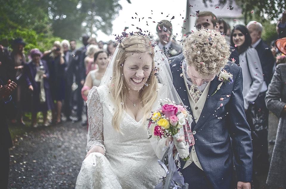 A Charlotte Balbier Dress for a Misty Welsh Farmhouse Wedding