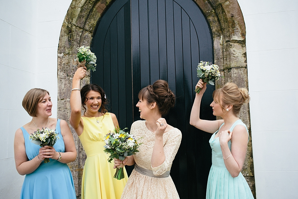 Blessings In Disguise For a Charming and Colourful Village Hall Wedding