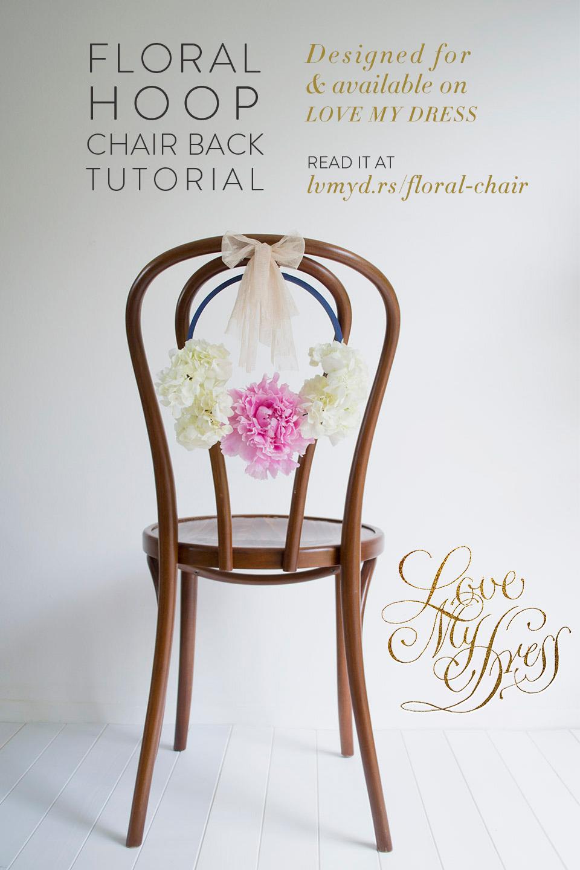 DIY Tutorial: Pretty Floral Hoop Chair Backs
