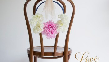 DIY Tutorial: Pretty Floral Hoop Chair Backs